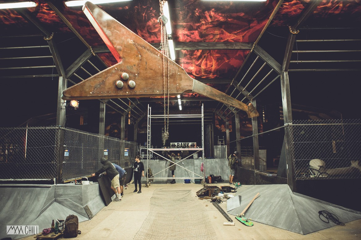 CHANTIER SKATEPARK CROSS DA CRUZ HELLFEST 2015