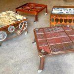 4 tables basses pour espace rené casin fabrication madneom theme gare