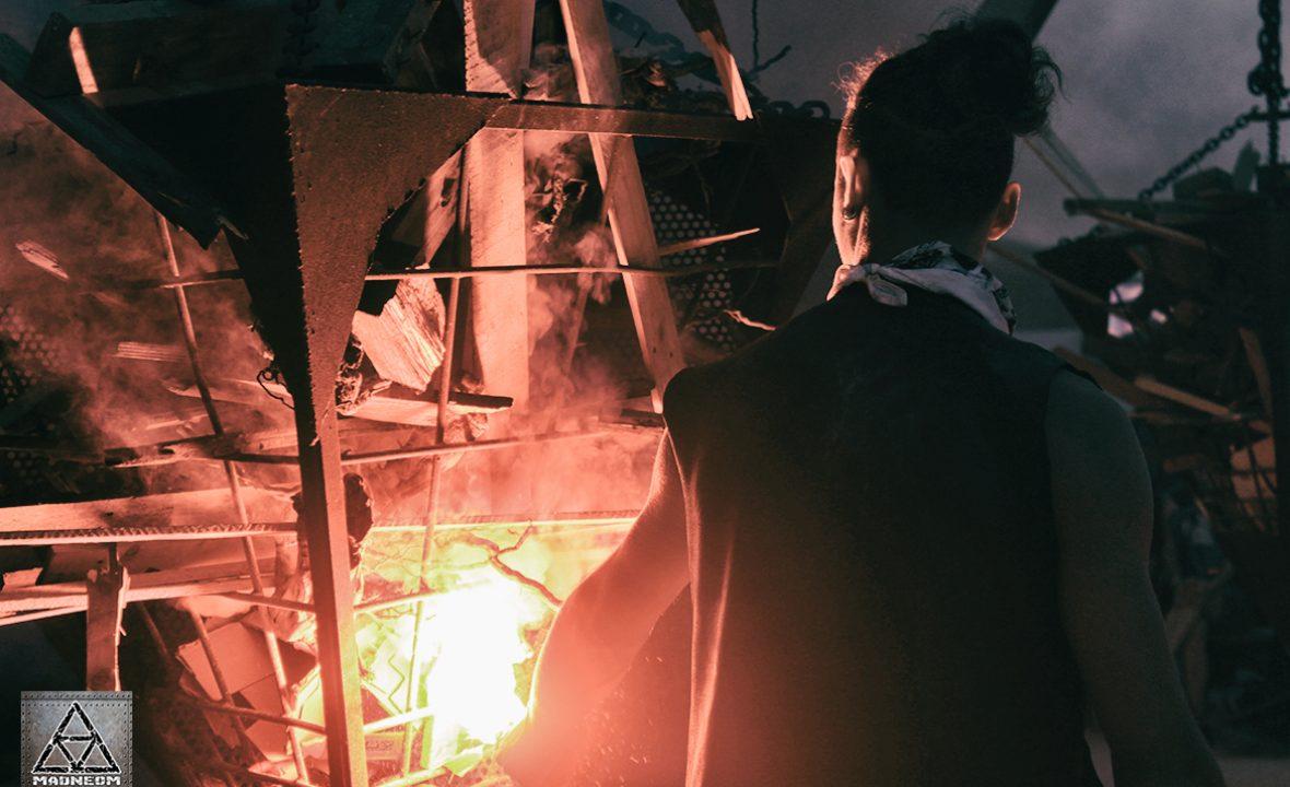 ALLUMAGE PYRAMIDE DE FEU HELLFEST 2017- MADNEOM STREET ART PARK