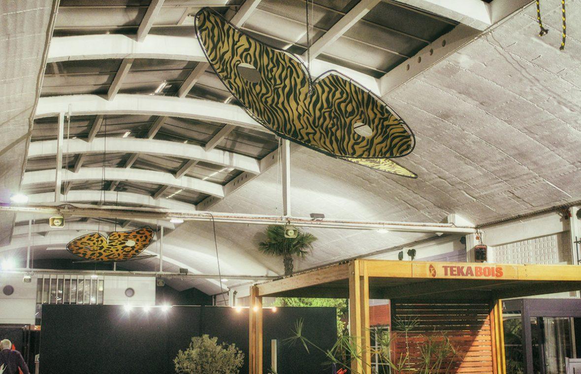 papillon madneom street art park salon de la deco la rochelle 2017 hall jardin
