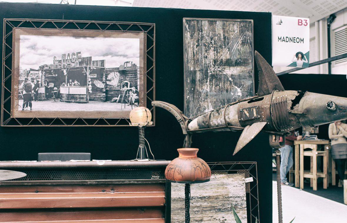 salon de la deco la rochelle 2017 madneom street art park requin